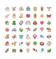 icons springtime vector image