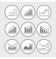 icons with charts and graphs vector image vector image
