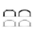 Inflatable arches set isolated from