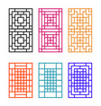 japanese ornament for door window wall and fence vector image vector image
