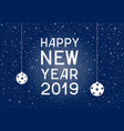 lettering happy new year blue on background vector image vector image
