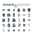Men fashion clothes and accessories flat outline vector image vector image