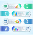 modern business charts background vector image