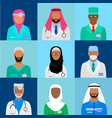 muslim doctor set vector image