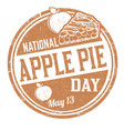 national apple pie day grunge rubber stamp vector image vector image