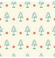 New year and Christmas tree winter seamless vector image vector image