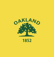 oakland flag vector image vector image