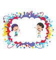 of kids painting vector image vector image