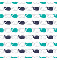 pattern with sperm whales vector image vector image