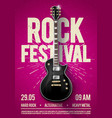 pink rock festival concert party flyer or poster vector image vector image