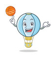 playing basketball air balloon character cartoon vector image
