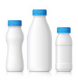 realistic plastic bottle for milk yogurt or kefir vector image vector image