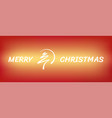 red abstract merry christmas tree line with circle vector image