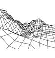 retro grid rocks vector image vector image