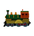 Retro Train Steam Locomotive Icon vector image vector image