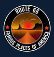 route 66 and grand canyon desert landscape sti vector image vector image