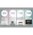 Set of modern gift voucher templates Abstract vector image vector image