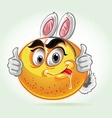Smile mad white rabbit costume vector image vector image