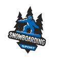 snowboarding winter sports logo emblem vector image vector image
