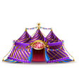 striped circus tent for performances vector image
