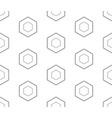 subtle geometric texture black outline hexagons vector image vector image