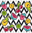 summer fruits patterns vector image vector image