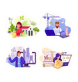 various professions flat set vector image