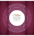 Vintage background greeting card invitation with vector image vector image