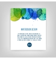 watercolor abstract background vector image