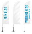 white textile flex or winder banner flags banner vector image