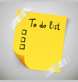 yellow sticky note with the curled corner and vector image