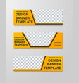 yellow web banner templates with place for photo vector image vector image