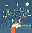 Concept business people agreement teamwork flat vector image