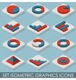 Flat Set Isometric Graphics Icons Infographics vector image