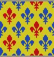 flower-de-luce on a seamless woolen pattern vector image