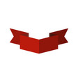ribbon isolated template red decorative tape for vector image