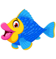cute fish cartoon swimming vector image
