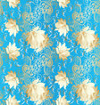 Light blue vintage floral seamless pattern vector image
