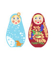 set of russian nesting dolls matryoshka vector image