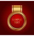 gold label with space for text vector image
