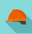 architect helmet icon flat style vector image