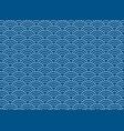 background blue japanese wave pattern vector image vector image