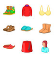 bandage icons set cartoon style vector image