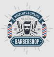 barbershop vintage label badge or emblem vector image vector image