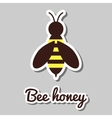 Bee Honey Sticker vector image