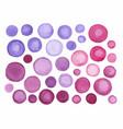 big set purple watercolor label vector image vector image