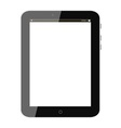 Black tablet pc vector image vector image