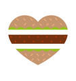 burger in shape of burger vector image vector image