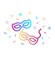 carnival mask linear colorful icon the symbol of vector image