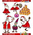 cartoon set christmas themes vector image